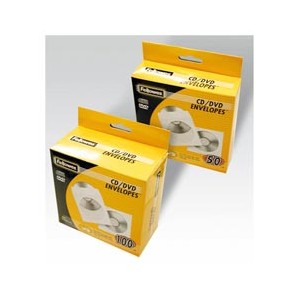 50 BUSTE CD IN CARTA BIANCA ULTRARESISTENTE FELLOWES