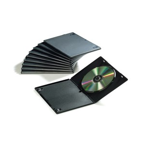 10 CUSTODIE SINGOLE SLIM PER DVD FELLOWES