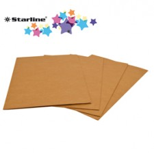 25 cartelline 3 lembi 24,5x34cm in kraft avana FSC Starline