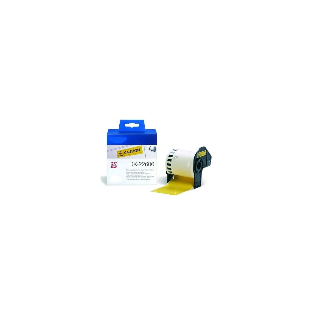 Yellow  62mmX15.24m  for Brother P-Touch QL1000 1050 1060