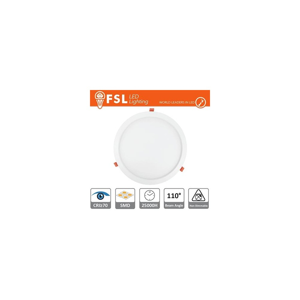 Downlight LED IP20 18W 3000K 1350LM 110° FORO:215mm