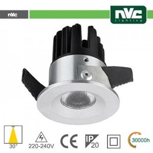 Punto Luce LED 2W 3000K 30° IP20 FORO:35mm