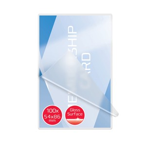 SCATOLA 100 POUCHES 2x250MIC 54X86MM CREDIT CARD